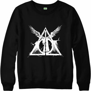 Harry-Potter-Pull-mortellement-Hallows-trois-freres-Unisexe-Adulte-amp-Enfant-Neuf