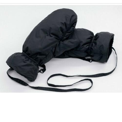 Men Women Duck Down Gloves Mittens Ski Hiking Winter Warm Thick Black Red Gift
