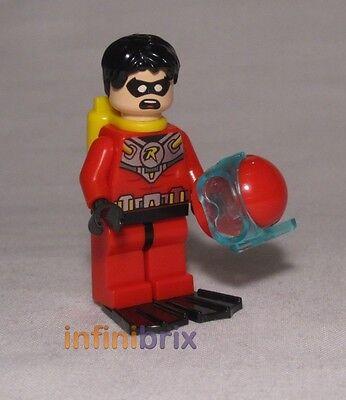 plus Hair Brand New and Genuine Lego DC Universe 76027 Scuba Robin Minifigure