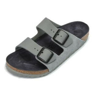 bf9ea2b100d7 Image is loading Birkenstock-Arizona-Grey -Limited-Edition-Color-Leather-Strap-