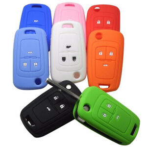 Silicone-Car-Key-Flip-Cover-Holder-Remote-Control-Bag-Case-for-Chevrolet-Cruze