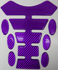 Purple Carbon Fibre 3D Resin Gel Tank Pad K1