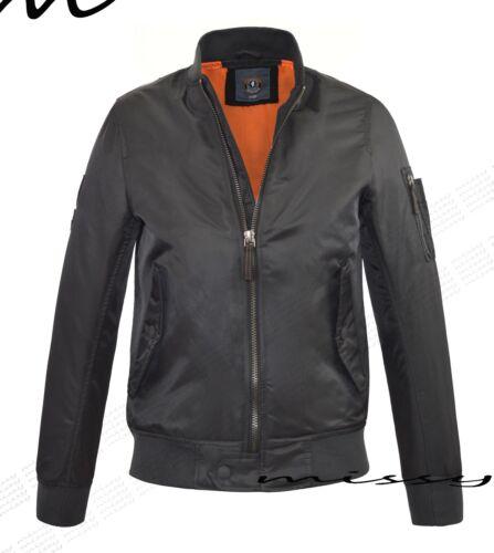 Boys Black Padded MA1 Bomber Jacket Lined School Coat Winter Age 7-8 9-10 11-12
