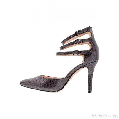 Wallis CARLY High Heels Metallic Grau UK 6 10 EU 39 LN085 FF 10 6 e2c677