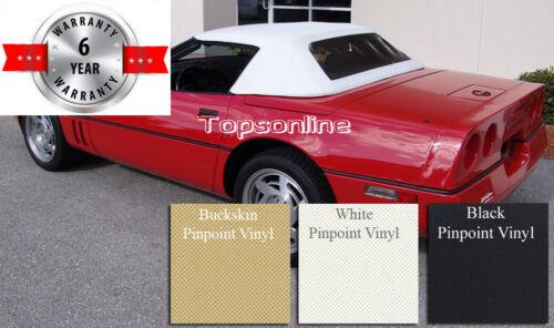 Haartz Vinyl 86-93 Chevrolet Corvette Convertible Top W//Plastic Window /& Video
