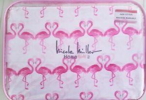 Nicole-Miller-Pink-Flamingo-Twin-Size-Sheet-Set-Girls-Bedding