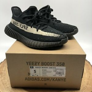 free shipping 9fddc 34dcb Details about ADIDAS YEEZY BOOST 350 V2 KANYE WEST OREO CORE BLACK CREAM  WHITE BY1604 SZ 5