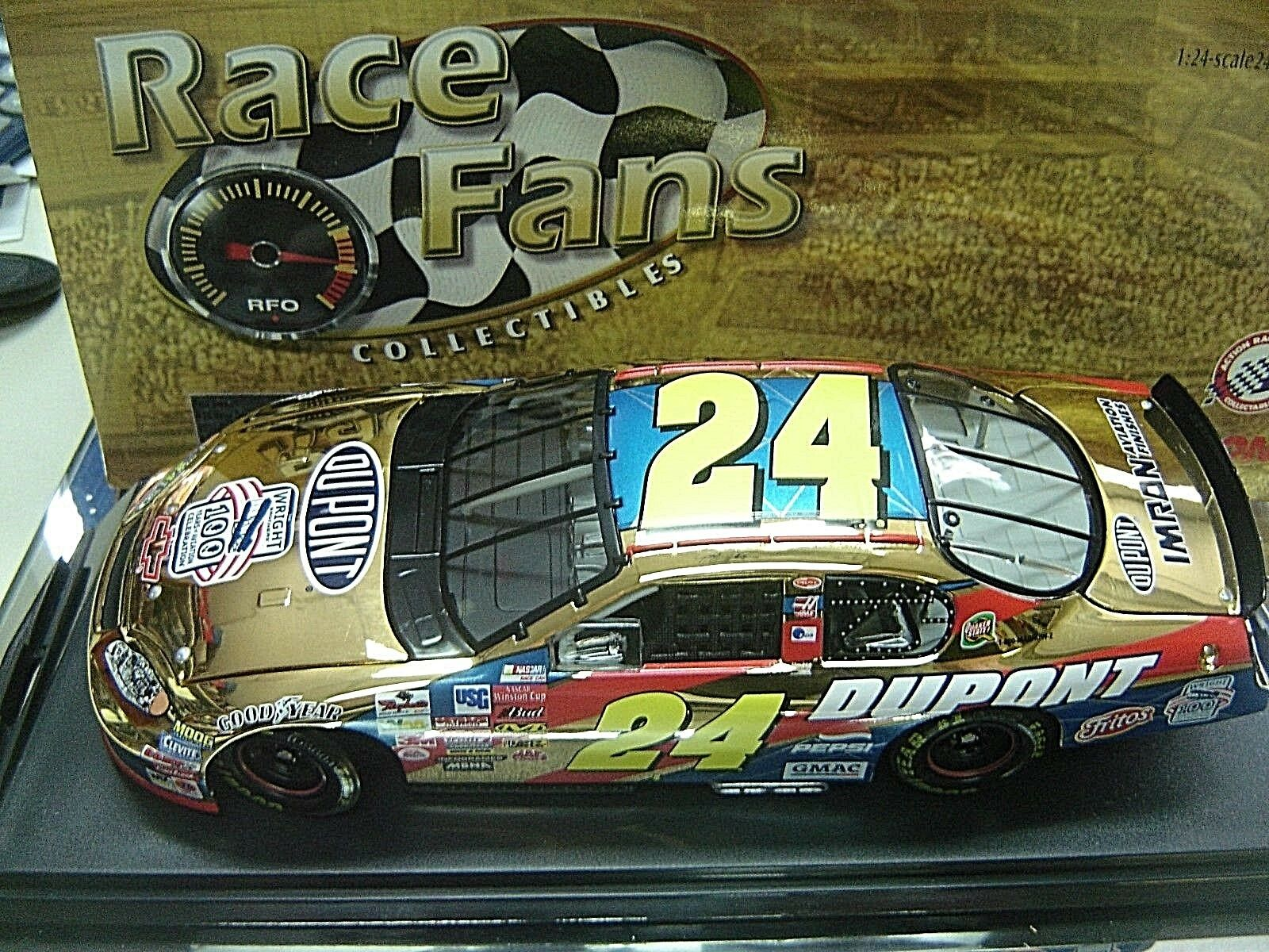RARE  2003 JEFF GORDON DUPONT WRIGHT BredHERS 24K gold RACE FANS ONLY 1 24 ACT