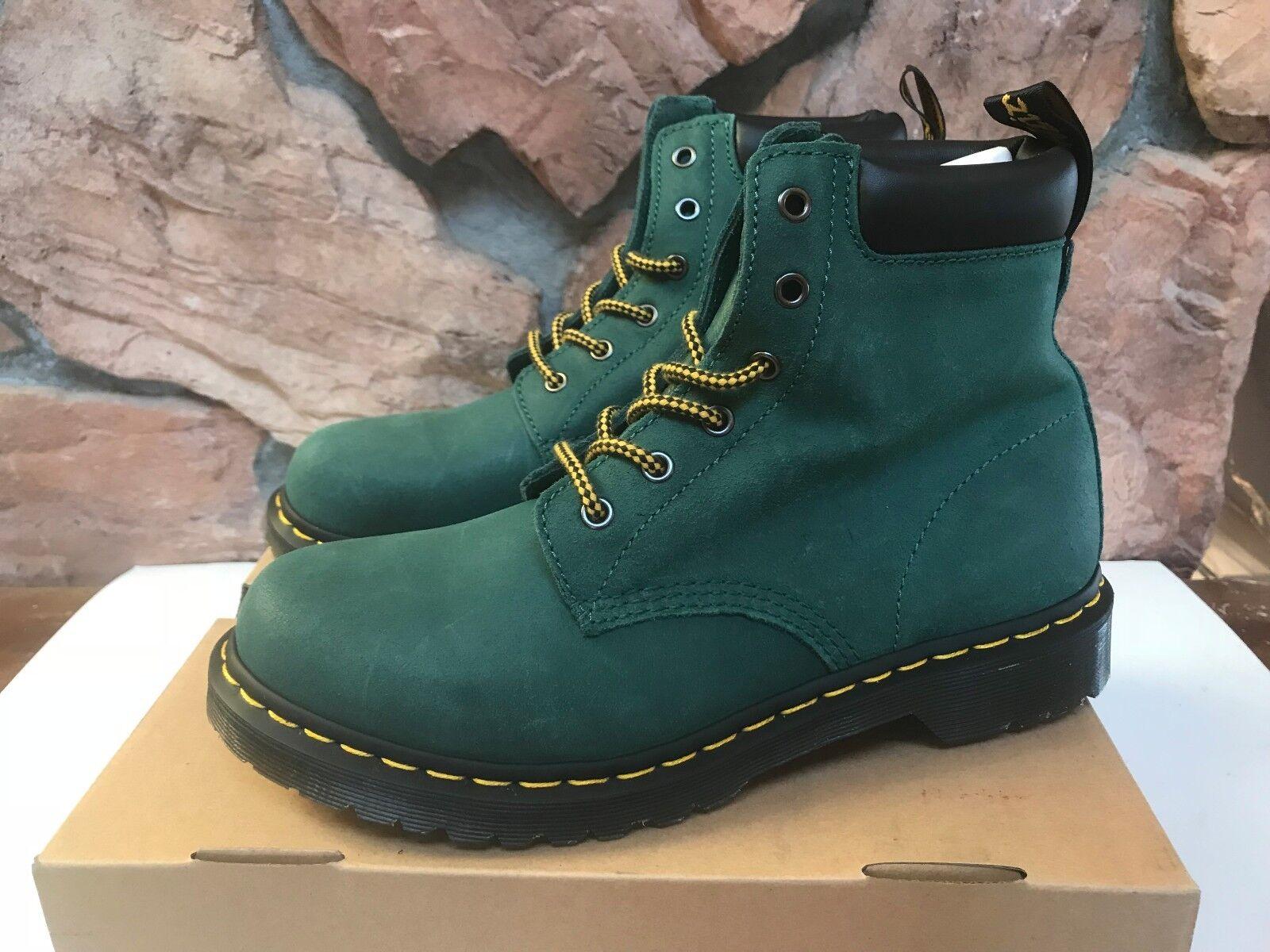 liquidazione DR DR DR MARTENS 939 Hiker donna US 11 Greasy Suede Ankle stivali - Teal Turquoise  spedizione gratuita in tutto il mondo