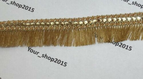 1 Yard Beautiful embroidered Tassel Sequin lace trimming ribbon Wedding dress