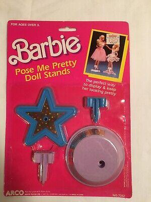 Vintage Barbie Pose Me Pretty Doll Stand Displays Arco Toys LTD Mattel 1989 NIP
