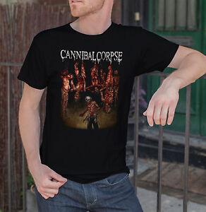 CANNIBAL-CORPSE-Men-Black-T-Shirt-Torture-Death-Metal-Band-Tee-Shirt