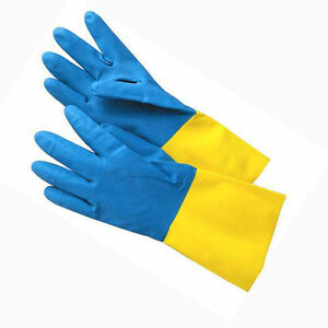 Reusable Rubber Latex Household Kitchen Non Slip Gloves, FREE Size