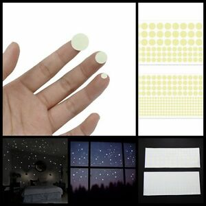 400X-Glow-in-The-Dark-Star-Round-Dot-Luminous-Wall-Stickers-Kid-Room-DIY-Decor