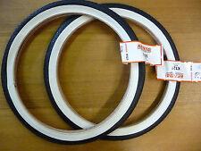 Pair KENDA K121 20 x 1.75 WHITEWALL Bicycle Tyres BMX Bike Junior Street NEW