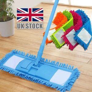 Flexible Microfibre Mop Cleaner Sweeper Wooden Floor