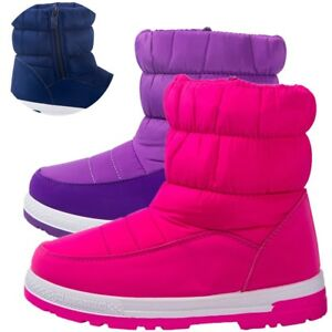 Girl-039-s-Snow-Boots-Fur-Lined-Slip-Resistant-Outdoor-Waterproof-Cold-Weather-Boys