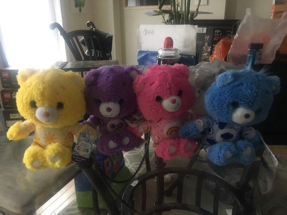 Care Bear Cubs Fleece Pajama Party Edition Sunshine Share Cheer Grumpy Set Of 4