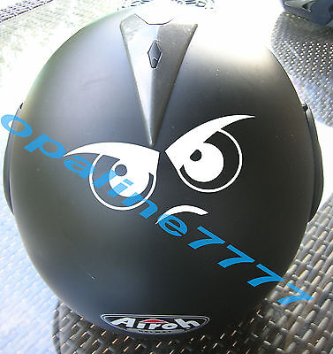 Sticker Stickers Eyes Eye Motorcycle Helmet Scooter Honda Yamaha Triumph Suzuki
