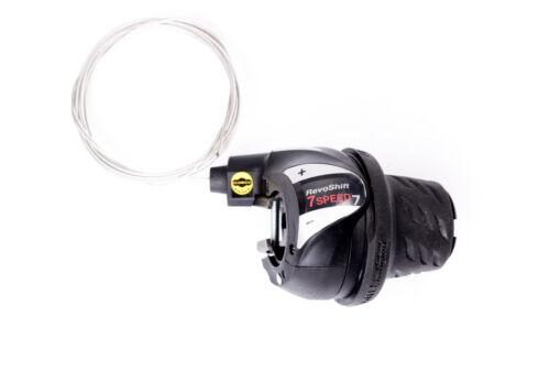 7 fach Shimano Revoshift Drehgriff Schalter Schaltung Fahrrad Shifter Schaltzug
