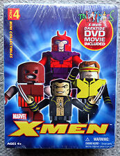 MARVEL X-MEN MiniMates Mini Mates/Figures 4-PACK with DVD Darktide XMEN