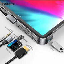 Baseus USB C HUB to HDMI USB 3.0 SD/TF 3.5mm Jack PD for iPad Pro MacBook Air