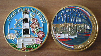 Medal Tourism Color France Oleron Island Lighthouse Port Cotiniere Free Ship