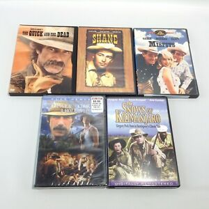 Classic Western DVD Lot of 5 SHANE The Misfits QUICK AND THE DEAD Ranger Cook