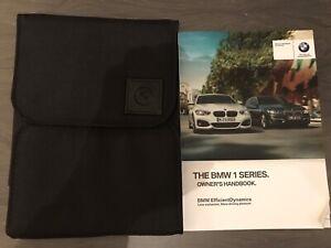 GENUINE BMW 1 SERIES F20 F21 HANDBOOK OWNERS MANUAL 2015-2018 BOOK