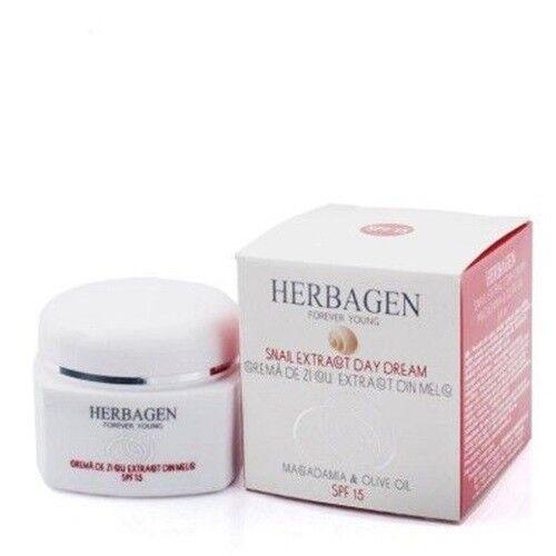 Crème visage à la bave d'escargot HERBAGEN SPF15