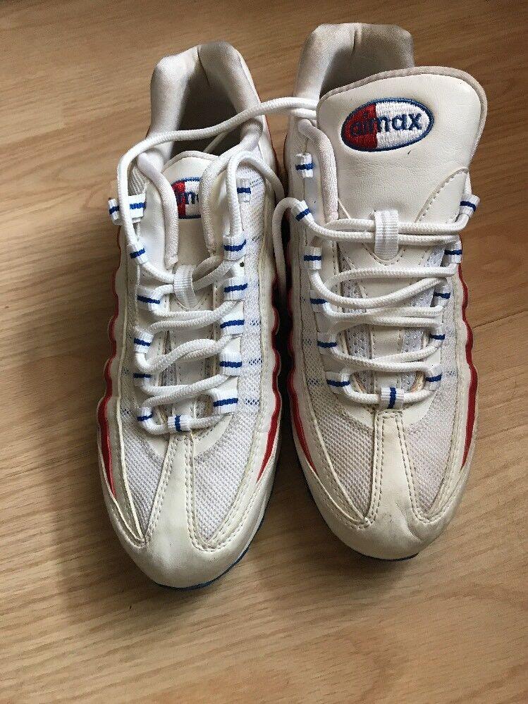 Nike Air Stripes Max Red White Blue Stars Stripes Air Size 8.5 Rare 1d8454