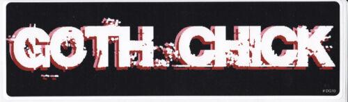 "GOTH CHICK High Quality 3/"" x 10/"" UV /& Waterproof Bumper Sticker Girl Decal"