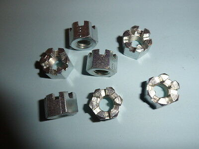 NUTS CASTLE M8 SLOTTED X 40 No. BRIGHT ZINC PLATED