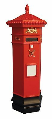 Dolls House Miniature 1/12th Scale Red Post Box