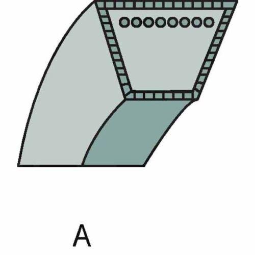 dimensiones 10 x 1366 9585-0175-01 junto a propulsión 1125 M Stiga correas trapezoidales