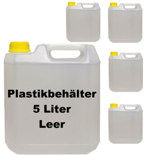 5 Stück 5 Liter Kunststoffkanister leer Plastekanister Wasserbehälter