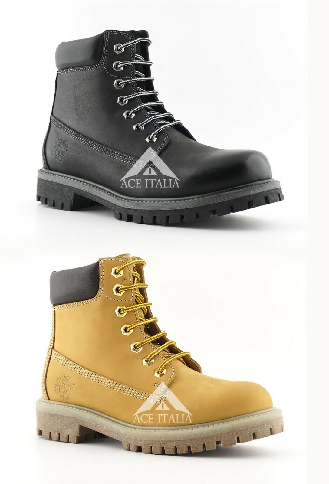Grinders Brixton Unisex Lace Up Mountain Combat Stylish High Top  Boots
