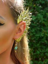Gold Metal Leaf Greek Goddess Ear Cuff Wrap Earring Jewelry Costume Fairy