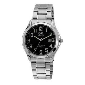 Reloj-Q-amp-Q-Analogico-caballero-Sumergible-50M-Correa-Acero-Caja-Metalica-A378J205