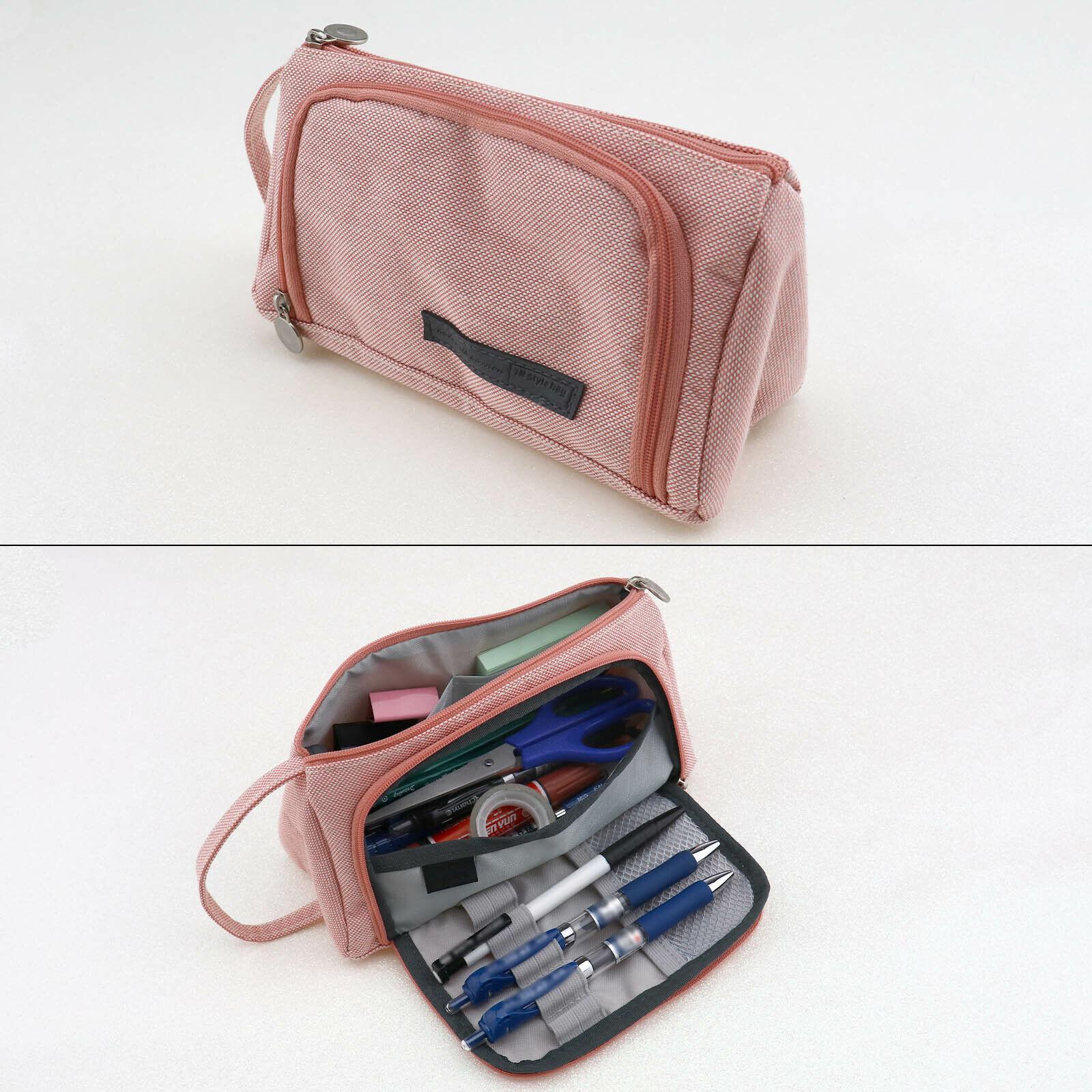 1x Rosa Make-up Beutel Lagerung Handtasche für Schreibwaren Kosmetik Tasche
