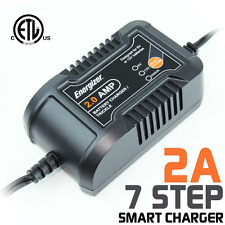 Energizer ENC-2A 2 Amp Battery Charger + Maintainer features 6 volt and 12 volt