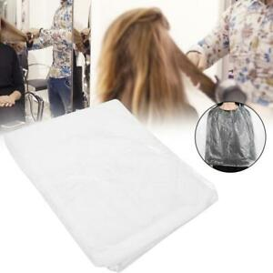 100x Disposable HairCutting Cape Hairdressing Barber Apron Dyeing Gown Home BEST
