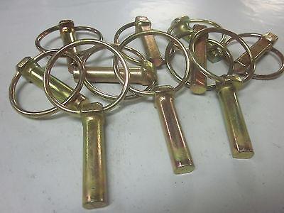 "~ 25 ~ GOLD 3//16/"" LYNCH PINS ATV FARM GARDEN STEEL TRACTOR TRAILER 3PT HITCH PIN"