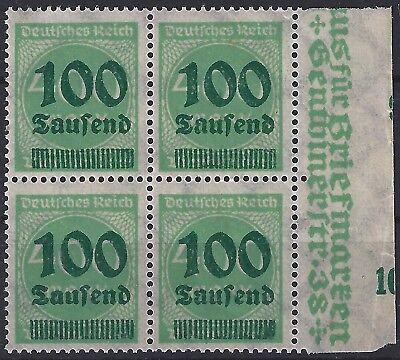 Angemessen Minr Deutschland Vor 1945 290 Im Viererblock Vom Rechten Seitenrand Mit Bogenverschnitt Postfrisch Hell Und Durchscheinend Im Aussehen 1919-1923