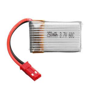 BATTERIA-LiPo-3-7V-250mAh-60C-1S-DRONE-Battery-JST-Plug-For-RC-FPV-Racing-Spare