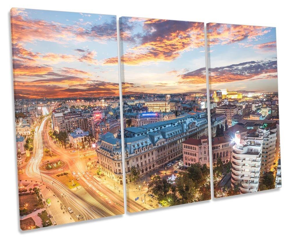 Romania Romania Romania City Skyline foto TREBLE TELA Wall Art Print 67e189