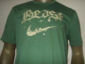 New-Men-039-s-Green-Large-Nike-Beast-Swoosh-Dri-Fit-Athletic-Cut-Sport-Tee-Shirt