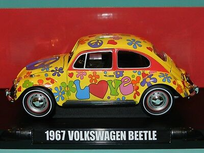 1967 Volkswagen Beetle Peace /& Love Flower Power hippie VW 1:18 GreenLight 13509