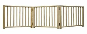 Four-Paws-3-Panel-Smart-Folding-Solid-Wood-Step-Over-Dog-Puppy-Pet-Gate-24-68-034-W