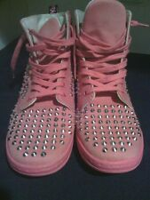 Dr Martens Pink Sneaker studs Womens sz 8 Doc Air Wair with bouncing soles RARE